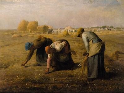 Neapolio geltona - The Gleaners, Jean-François Millet, 1857.