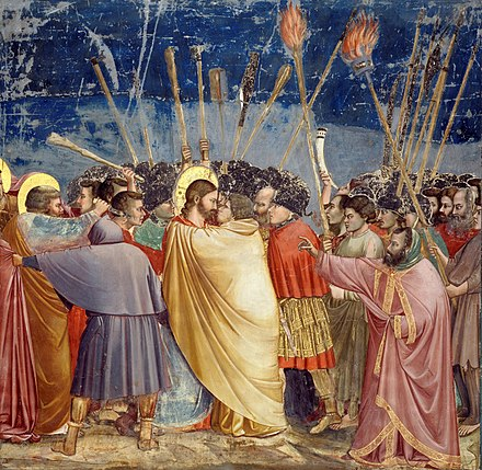Giotto di Bondone, The Kiss of Judas (between 1304 and 1306).