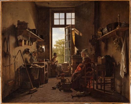 Martin Drölling, L'interieur d'une cuisine, 1815